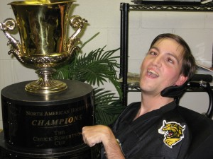 Jeremiah with the Robertson Cup